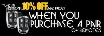 Buy 2 of the same Code Alarm remotes and receive an additional 10% OFF sale pricing