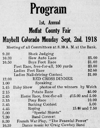 1918 & 1919 MC Fair