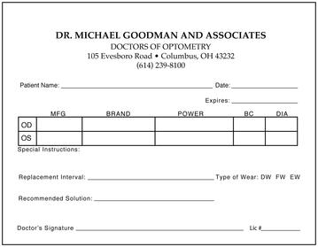 fake prescription pad template - keskes printing optometrists