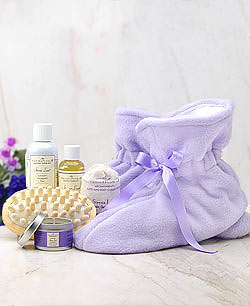 Lavender Spa Booties Gift Set