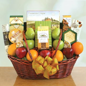 Deluxe Fruit and Gourmet Basket