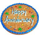 Happy Anniversary Cookie Cake