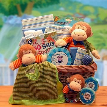 Baby Gift Basket - Adorable gift bag with all the baby needs!