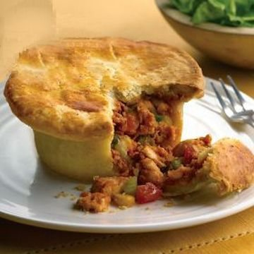 Chicken & Salsa Pot Pies