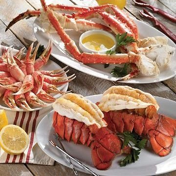 Romance Dinner for Two.  It's date night! This perfectly romantic dinner for two includes melt-in-your-mouth, ultra sweet Tristan lobster tails and our amazing Maryland crab cakes.