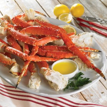Our Alaskan King Crab legs are from the cold waters of the Bering Sea.