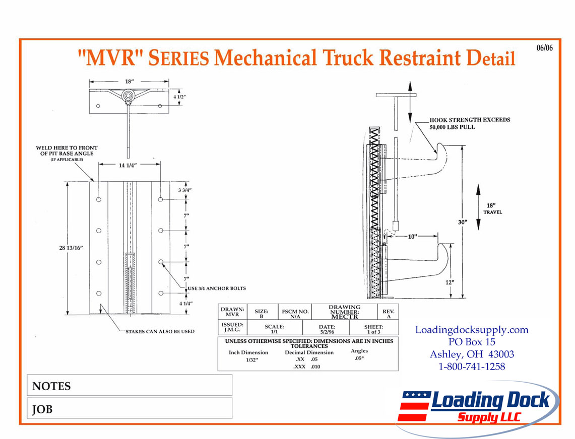 Loading Dock Equipment Truck Restraints