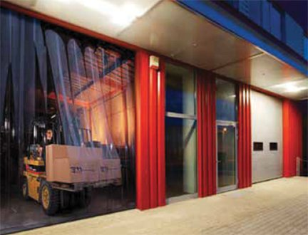 Warehouse and office strip doors in a variety of strip materials and dimensions & Loading Dock Equipment - Strip Doors PVC material Assembled ...