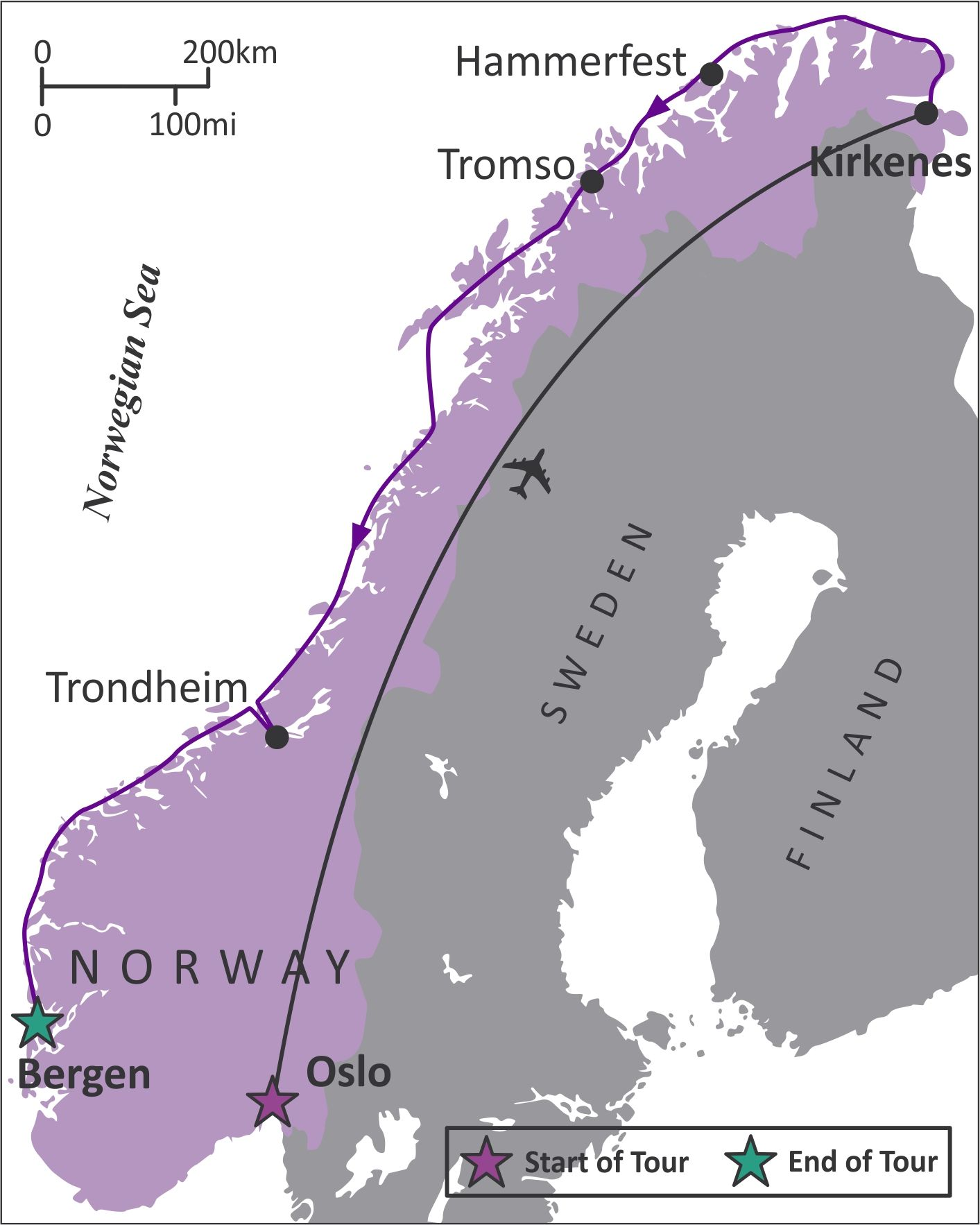 Sights And Soul Travels Winter Tour To Norway Overview - Norway nutshell map