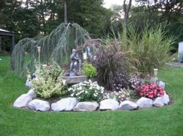 Landscape river stone rock boulder supply nassau suffolk for Decorative stone garden border
