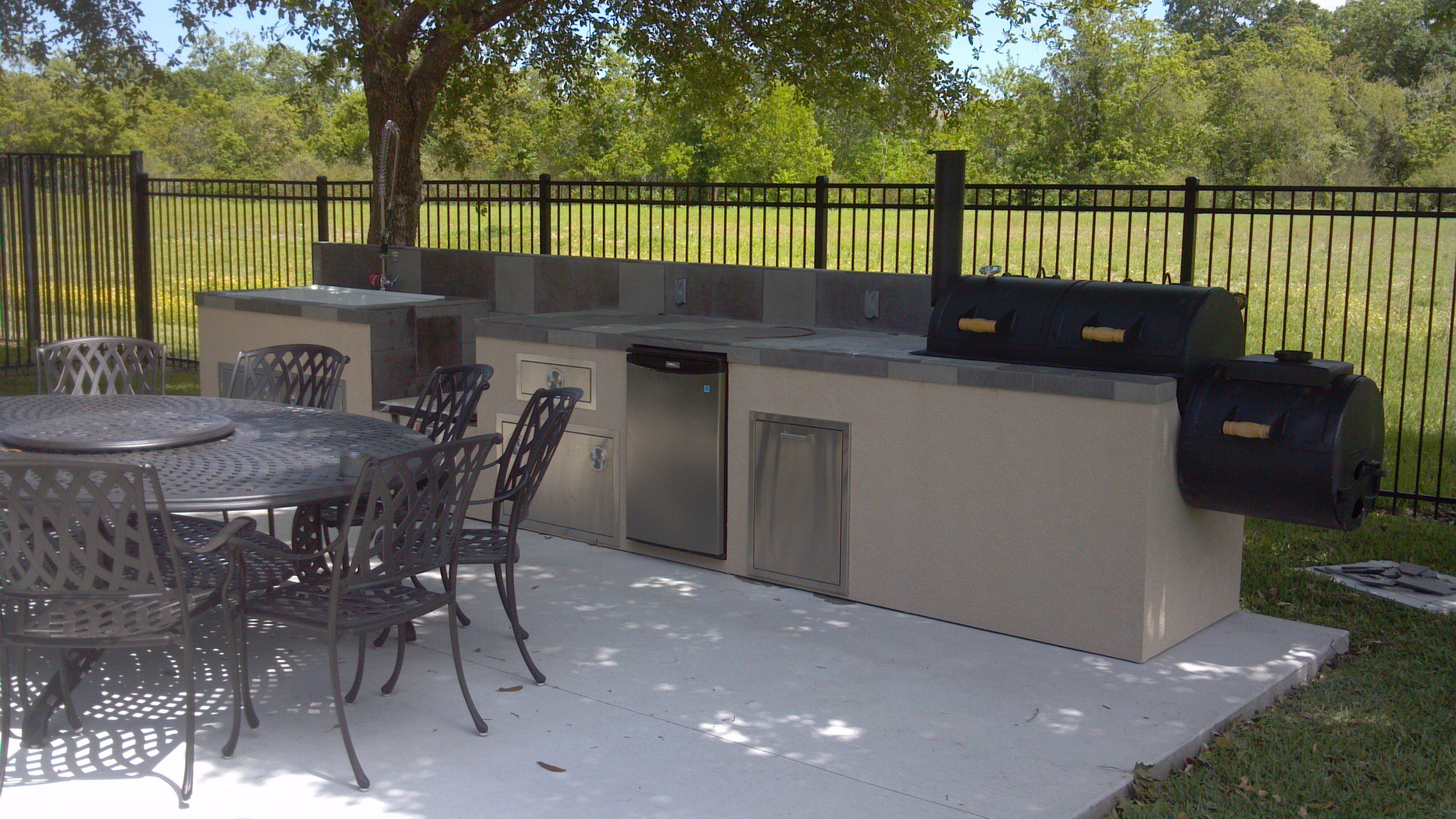outdoor kitchen designs with smoker. Outdoor Kitchen with Built in Smoker Equipment Houston  Gas Grills