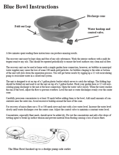 Blue Bowl Instructions
