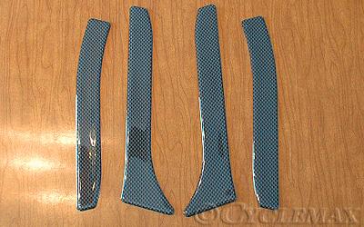 GL1800 Carbon Fiber Saddlebag Scuff Pads