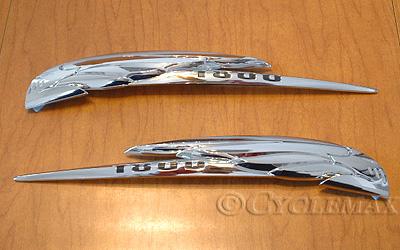 Goldwing GL1800 Add On Chrome Saddlebag Emblems