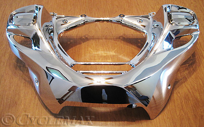 GL1800 Chrome Lower Front Cowl with Rectangular Openings