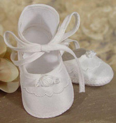 100% Silk Girl's Christening Shoe