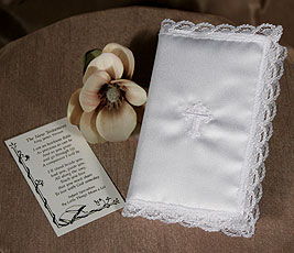 New Testament Christening Bible With Embroidered Cross