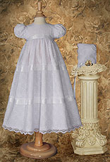Girls Layered Lace Christening gown