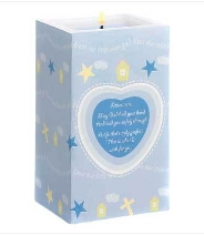Boy Nursery Blessing Candle