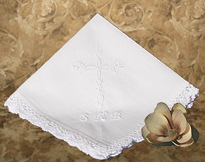 Christening Gift Hankie with Custom Embroidery