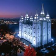 The wondrous LDS temple in Salt Lake City, UT.