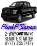 Remote Starter Ford F-150, F250, F350, 2-Way Remote Car Starter Kit Code Alarm CA5554 VSS