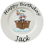 personalised ceramic plates for babies and children