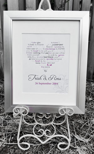 Personalised Word Art - Silver Frame