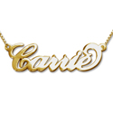 Name Necklaces - gold