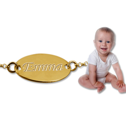 18K gold-plated baby/child ID Bracelet
