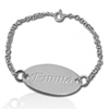 sterling silver baby/child ID Bracelet
