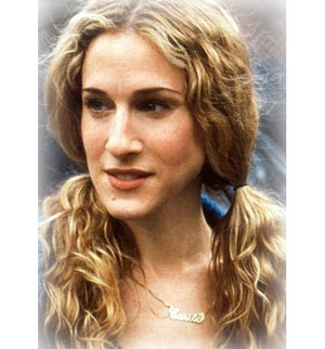 SJP and her Carrie Name Necklace