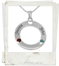 circle of life sterling silver mother necklace
