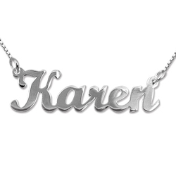 sterling silver Name Necklace Karen style