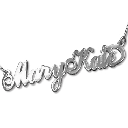 Sterling silver Name Necklace with two capital letters