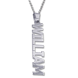 sterling silver Name Necklace vertical style