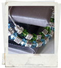 sterling silver name bracelet with birthstones