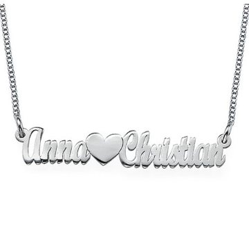 Two Name Necklace with heart