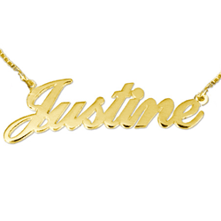 gold Name Necklace - Justine