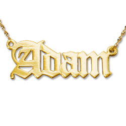 gold Name Necklace Adam