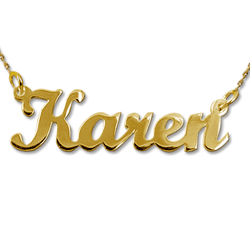 gold Name Necklace Karen
