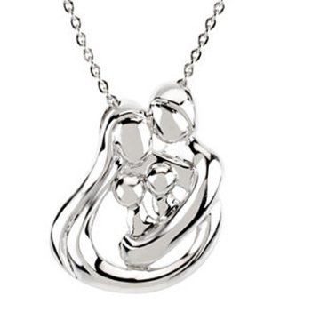 Family Embrace sterling silver necklace