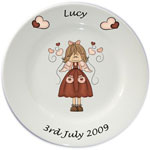Child's personalised plate - Girls Lucy Angel