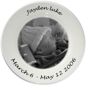 Personalised Photo Plate - black and white