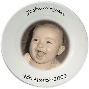 Personalised Photo Plate - sepia