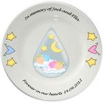 Personalised Baby Memorial Plate - Twins or Single