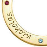 Personalised loop pendants
