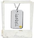 posh mommy engraved mini dog tag with birthstone