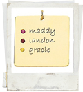 posh mommy square mother pendant with birthstones