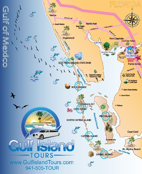 Englewood Florida Map.Boat Tours Englewood Fl 941 505 8687 Gulf Island Tours Offers